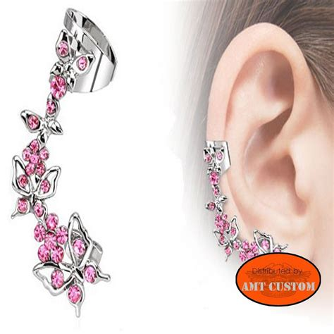 boucle d oreille papillon strass amt custom shop