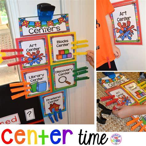 center time management  preschool  pre  pocket