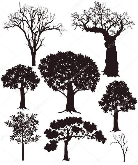 tree silhouettes stock vector  scusi