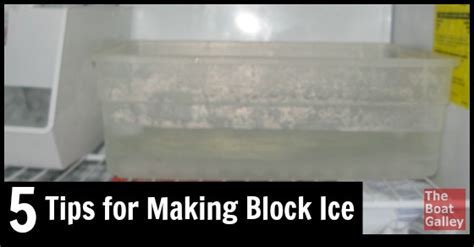 Tips for Making Block Ice