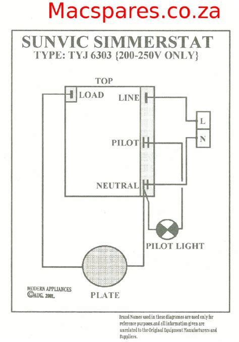 wiring diagrams stoves switches and thermostats macspares wholesale spare parts supplying
