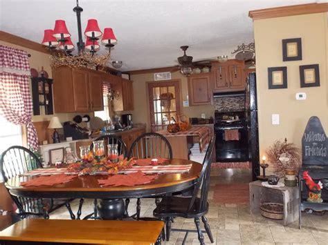 country themed kitchen decor manufactured home decorating ideas primitive country style 6237