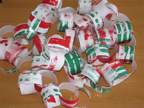 christmas paper chains learning  kids