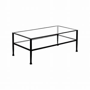 51 off rectangle metal and glass coffee table tables With glass and metal rectangular coffee table