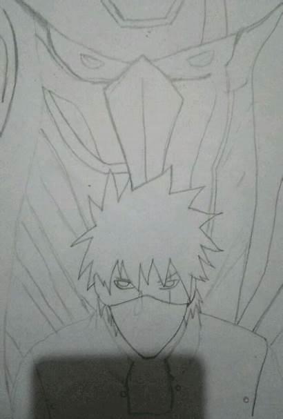 Kakashi Susanoo Naruto Drawing Process