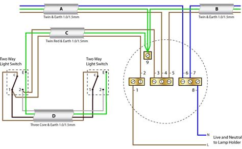 Two Way Switch Ceiling Rose Wiring Diagrams