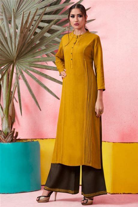 party wear girls long kurti  plazzo latest designs