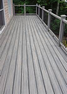 new trex transcend deck quot island mist quot color decking quot gravel path quot color rail and posts photo