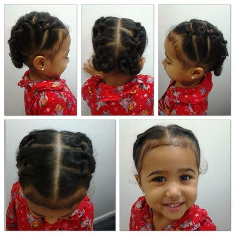 Little girls hair style Mixed girl hairstyles Little
