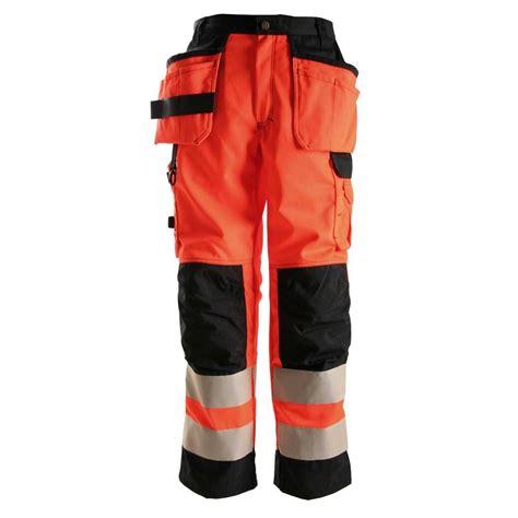 HiVis Tool Pocket Pants Orange - FaceLine Inc Store