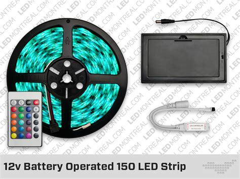 12v battery powered 150 led with 24 key remote led