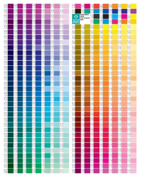 cmyk colors best 25 cmyk color chart ideas on color