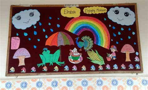 board decoration happy monsoon st xaviers high school