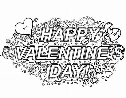 Coloring Valentines Happy Cards Printable Sheets Adults