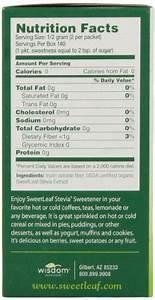 Sweetleaf Natural Stevia Sweetener  70 Count
