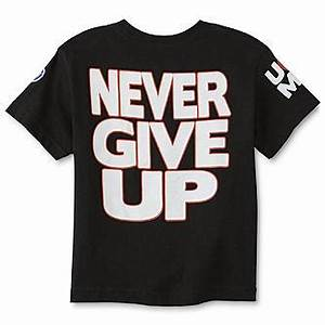 Never Give Up by John Cena Boy's Graphic T-Shirt - Hustle ...