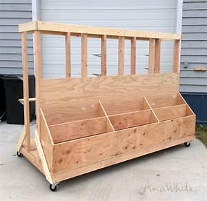 Ana White Ultimate Lumber and Plywood Storage Cart - DIY