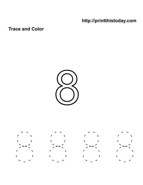 free kindergarten math worksheets number eight 8