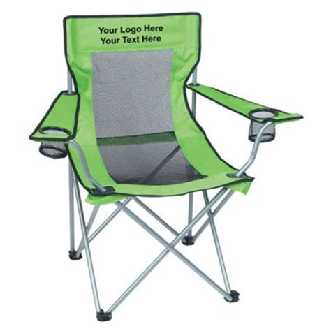 custom printed mesh folding chair with carrying bags