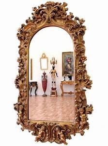 Grand Miroir Baroque : grand miroir mural de cheminee style louis xv neoclassique baroque cadre dore ebay ~ Teatrodelosmanantiales.com Idées de Décoration