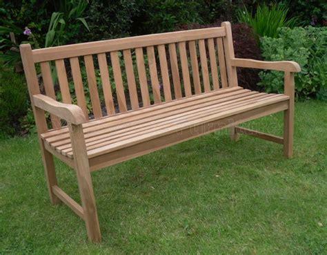 solid teak  seat chunky park garden bench sale