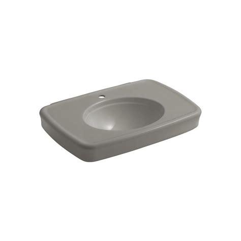 home depot kohler bancroft pedestal sink kohler bancroft 8 11 16 in ceramic pedestal sink basin in