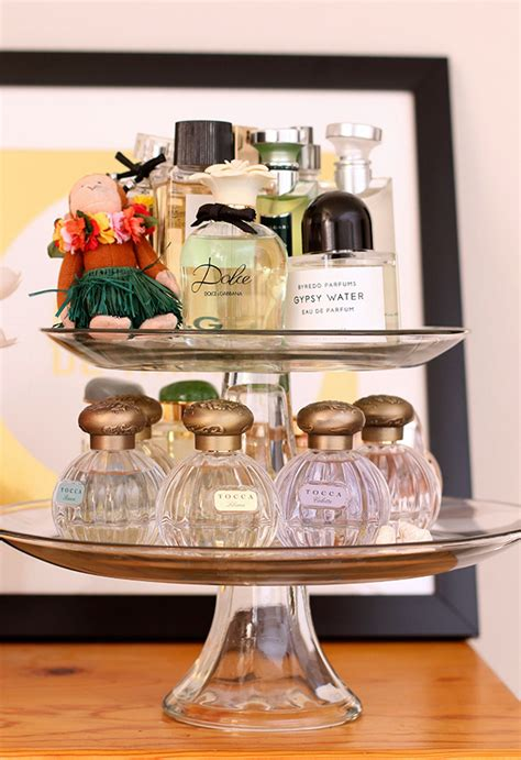 perfume display makeup cake stand storage perfumes beauty bedroom organization ways way collection vanity fascinating sweet source storing room read