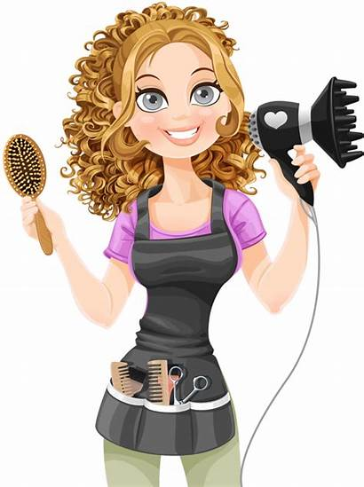 Woman Salon Animated Clipart Pf Personnages Banner