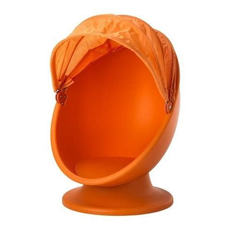 Ikea Swivel Egg Chair by Ikea Ps Lomsk Orange Swivel Egg Chair W Pull