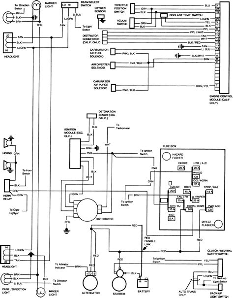1985 Corvette Fuse Box Diagram by 1985 Chevy Corvette Wiring Diagram Wiring Library