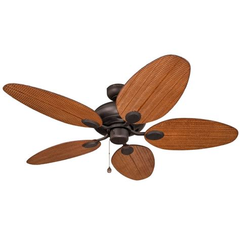 harbor breeze outdoor ceiling fan shop harbor breeze tilghman 52 in aged bronze downrod or