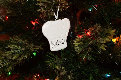 personalized chef hat ornament
