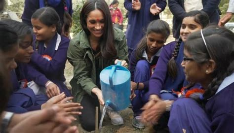 meghan markles india charity work captured  newly