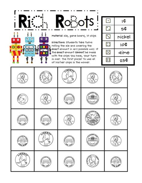 Printable Money Math Games