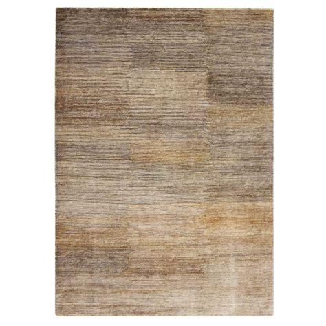 tapis contemporain de salon marron en et chanvre