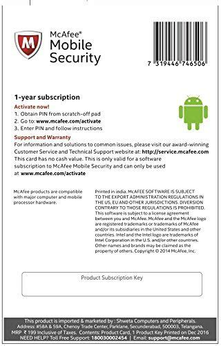 mcafee mobile security key mcafee mobile security 1 device 1 year product key