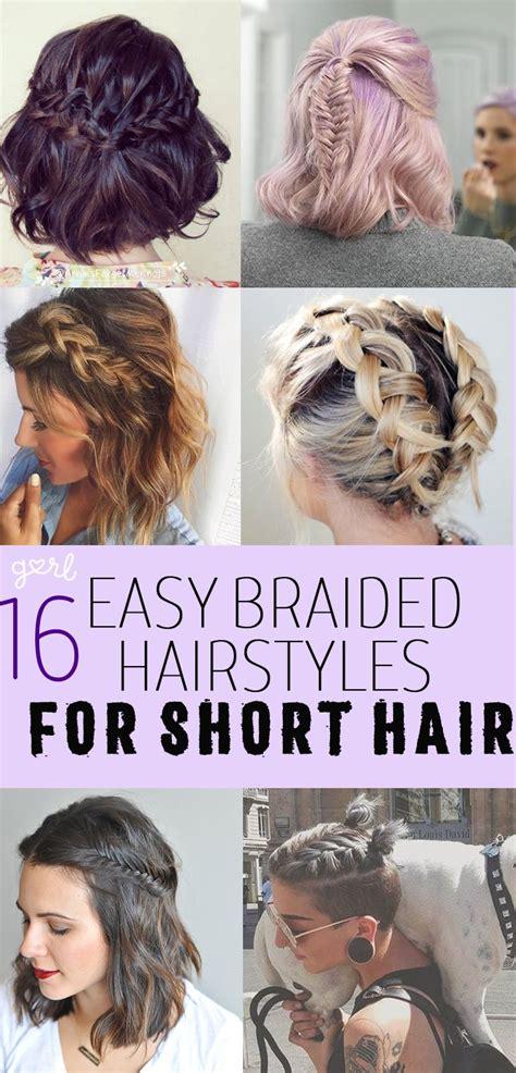 easy  cute braided hairstyles  short hair
