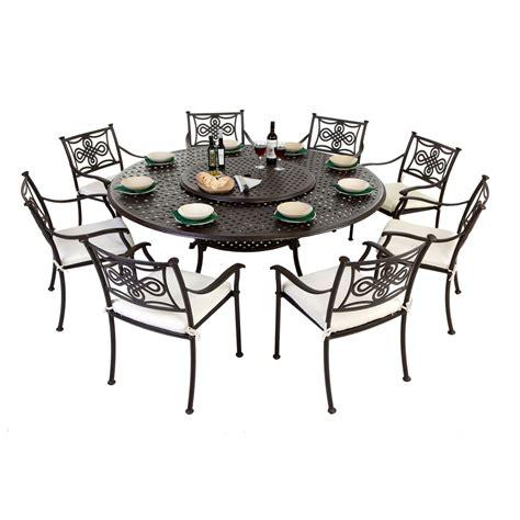 8 seat cast aluminium outdoor dining sets