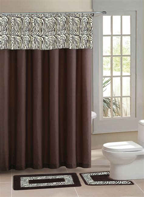 home dynamix designer bath shower curtain  bath rug set