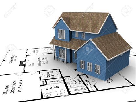 building a house plans 3720226 build house on a set of building plans stock