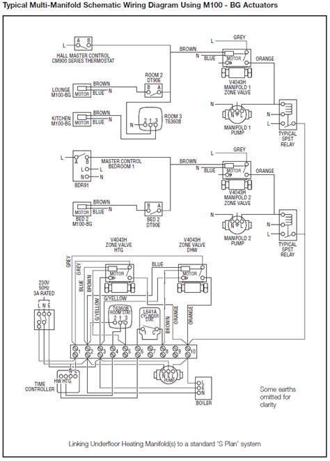 central heating wiring diagrams honeywell sundial u plan