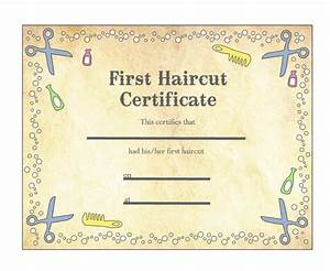 baby39s first haircut certificate keepsake laminated With my first haircut certificate template