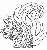 Squirrel Coloring Printable Awesome sketch template