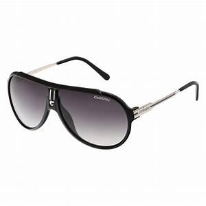 Lunette De Soleil Pour Homme : carrera lunettes de soleil homme noir brillant argent ~ Voncanada.com Idées de Décoration