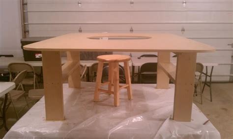 build  train table  hole  center finished
