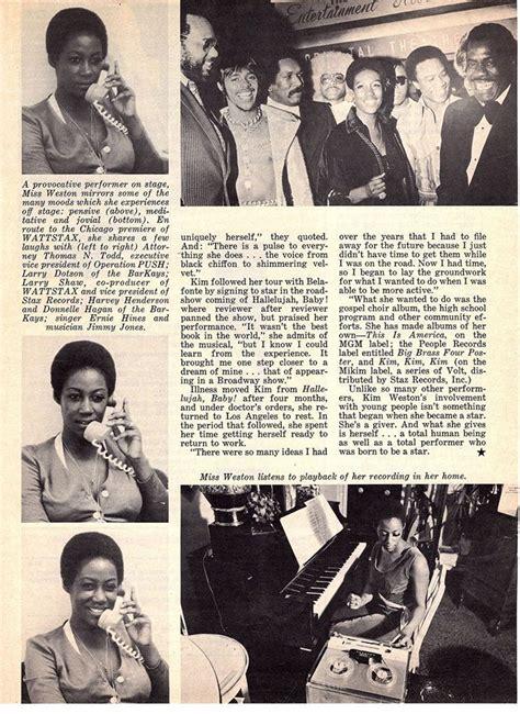 Kim Weston Black Stars magazine August 1972 page 5 in 2020 ...