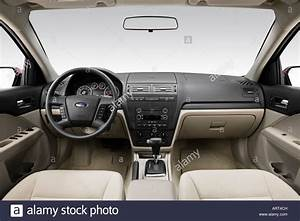 2008 Ford Fusion Se In Red - Dashboard  Center Console  Gear Shifter Stock Photo  16120528