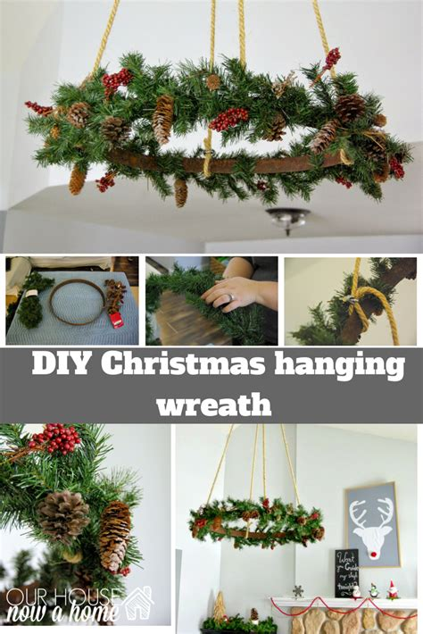 diy recycled decoration idea for hang on ceiling ceiling hanging wreath our house now a home