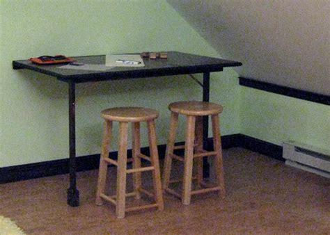 folding desk table build a foldout desk and craft table hgtv