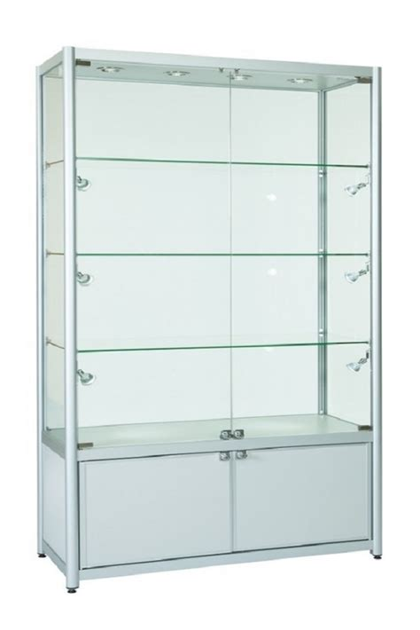Glass Cupboard by 1200mm Glass Retail Glass Display Cabinets Storage
